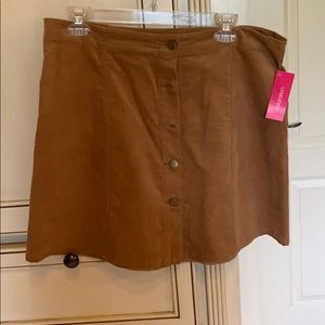 New! Brown corduroy skirt. Size Large. Xhilaration